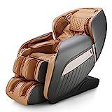 Naipo Massagesessel Shiatsu Massagestuhl Zero Gravity für Ganzkörper, mit Heizung, SL Track, Klopfen, Kneten, Luft-Massage-System, USB, Bluetooth 3D Surround Sound Musik, Für Zuhause und Büro - Braun
